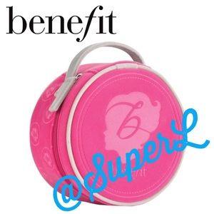 3/$15 Benefit Pink Round Makeup Bag Pouch Clutch